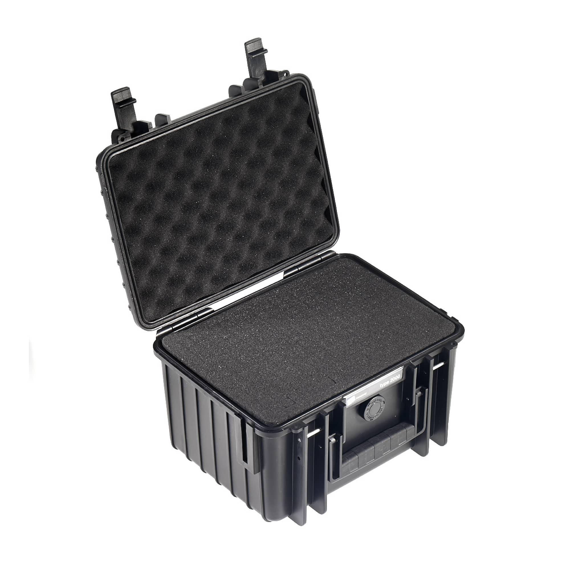 B&W Outdoor Case Typ 2000 schwarz mit Würfelschaum (SI)