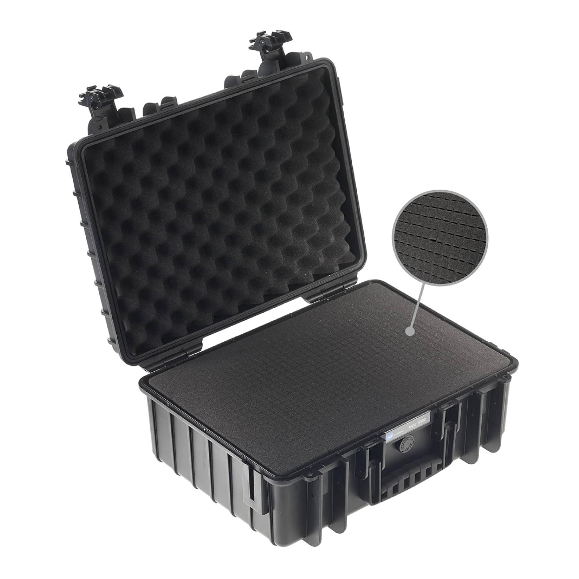 B&W Outdoor Case Typ 5000 schwarz mit Würfelschaum (SI)