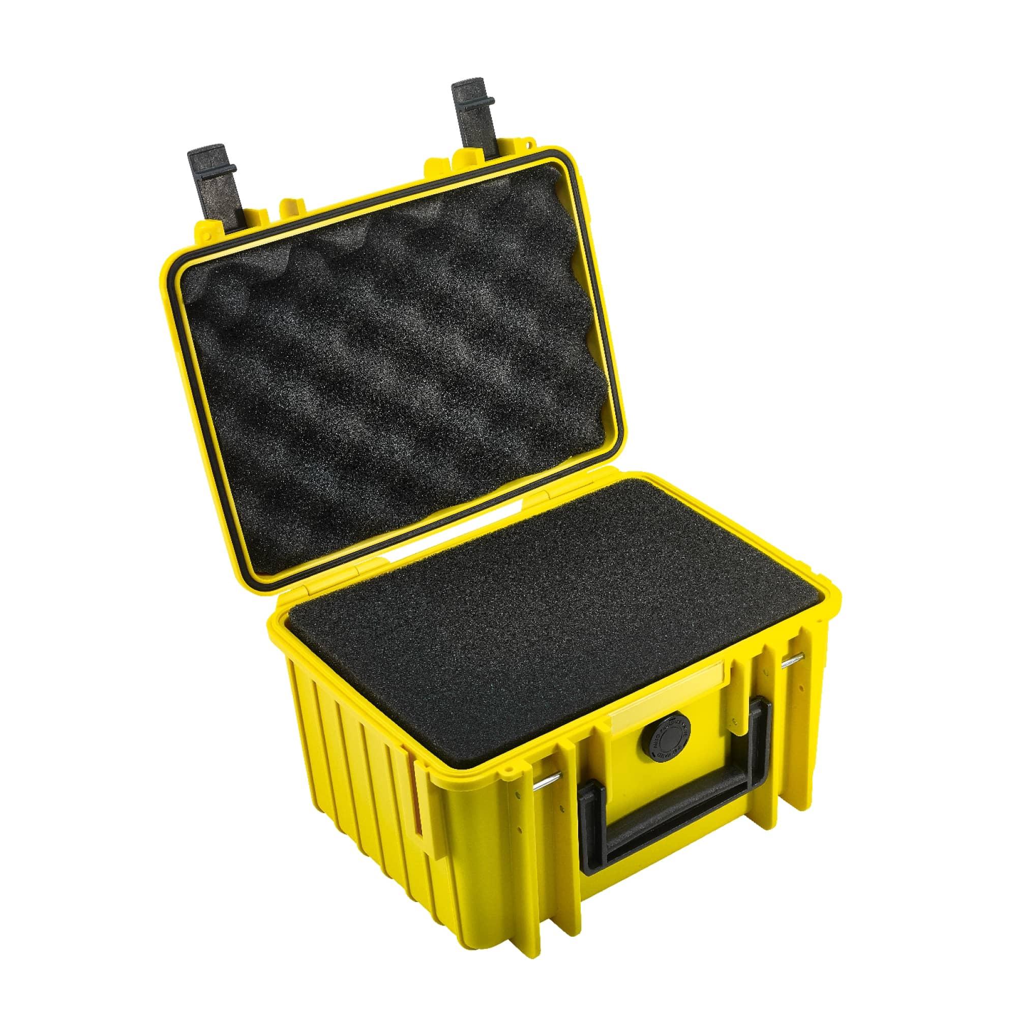B&W Outdoor Case Typ 2000 gelb mit Würfelschaum (SI)
