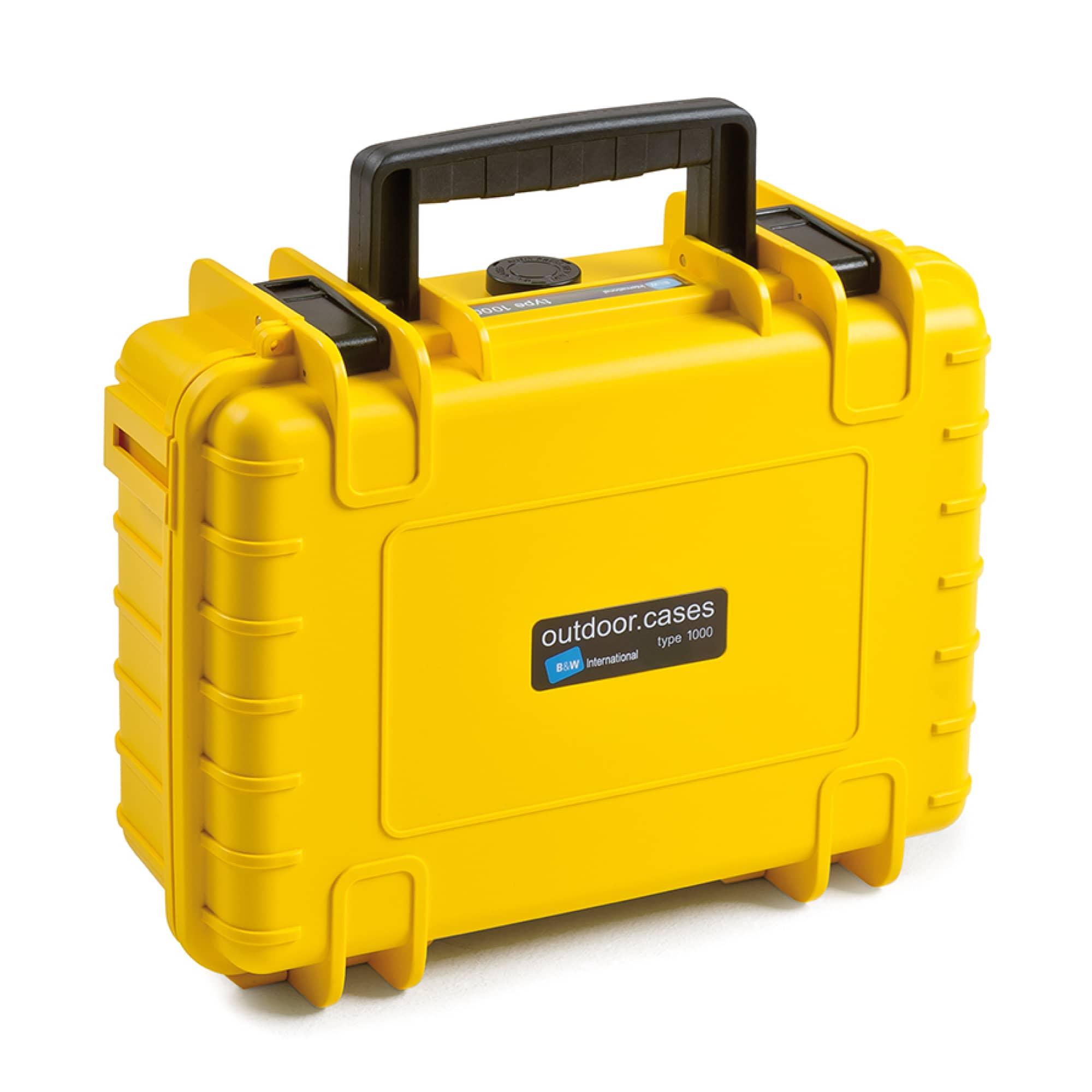 B&W Outdoor Case Typ 1000 gelb mit variabler Facheinteilung (RPD)