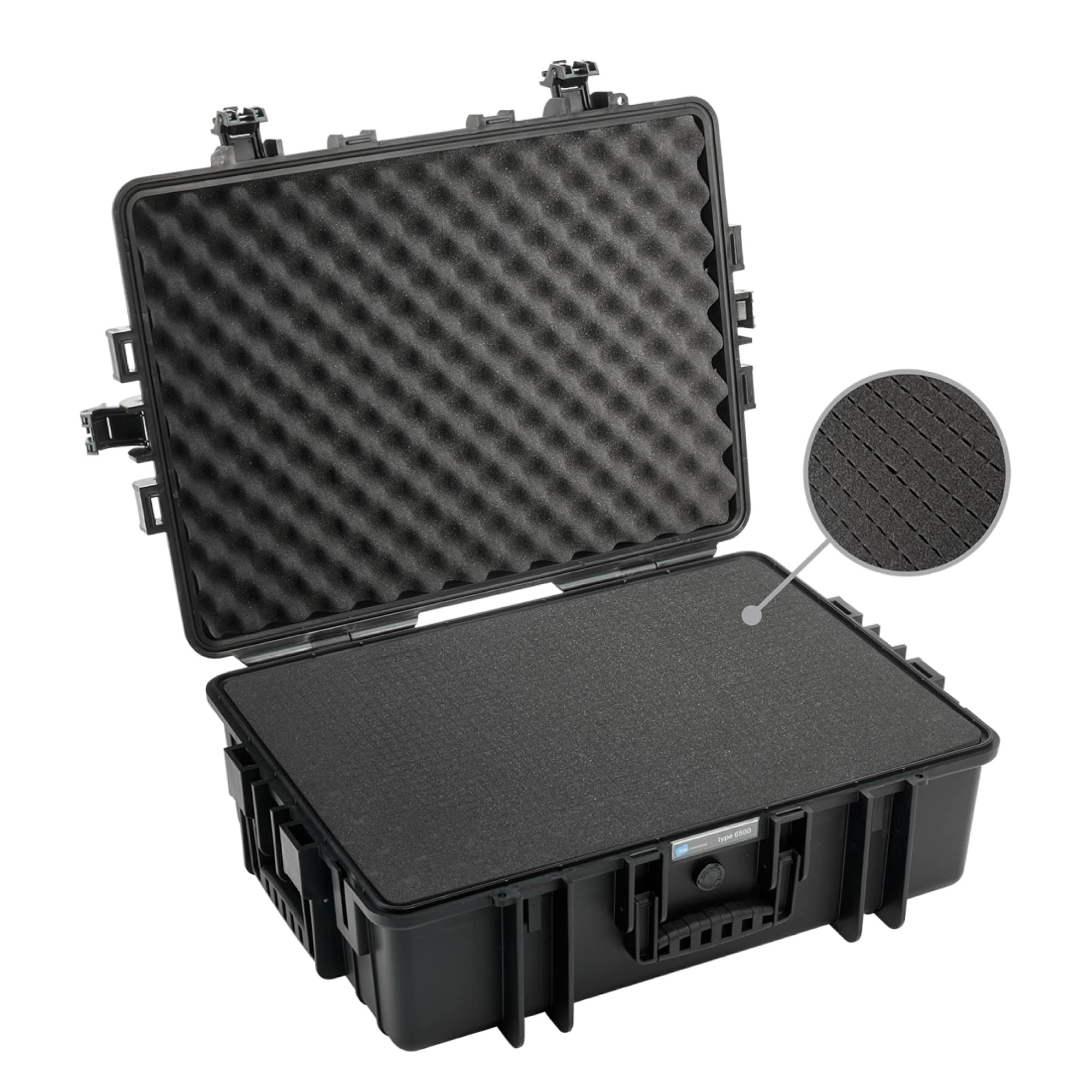 B&W Outdoor Case Typ 6500 black with pre-cut foam (SI)