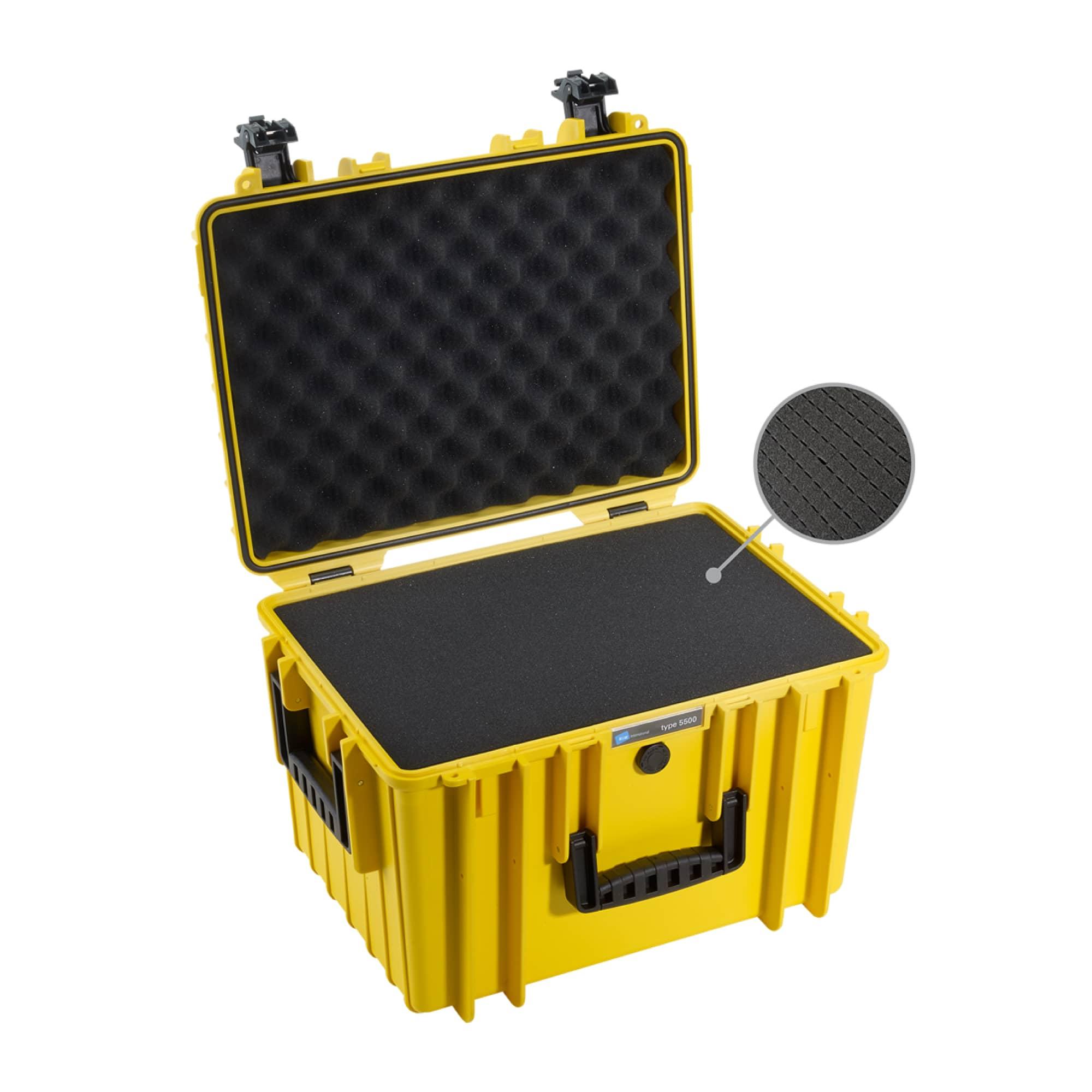 Outdoor Case Typ 5500 gelb mit Würfelschaum (SI)