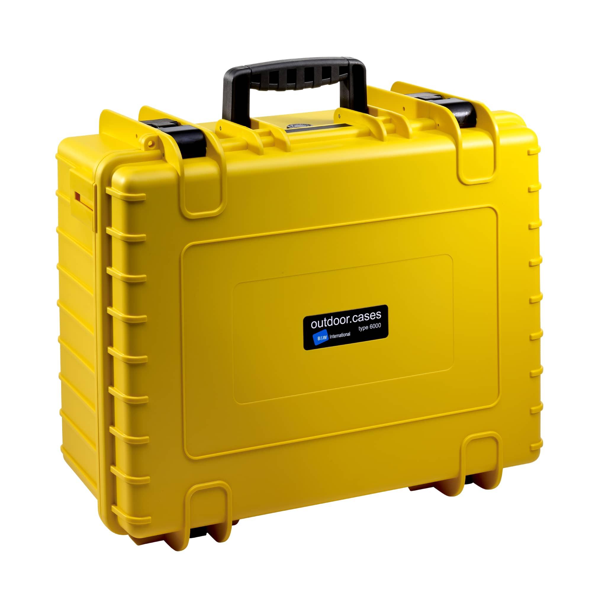 B&W Outdoor Case Typ 6000 gelb mit variabler Facheinteilung (RPD)
