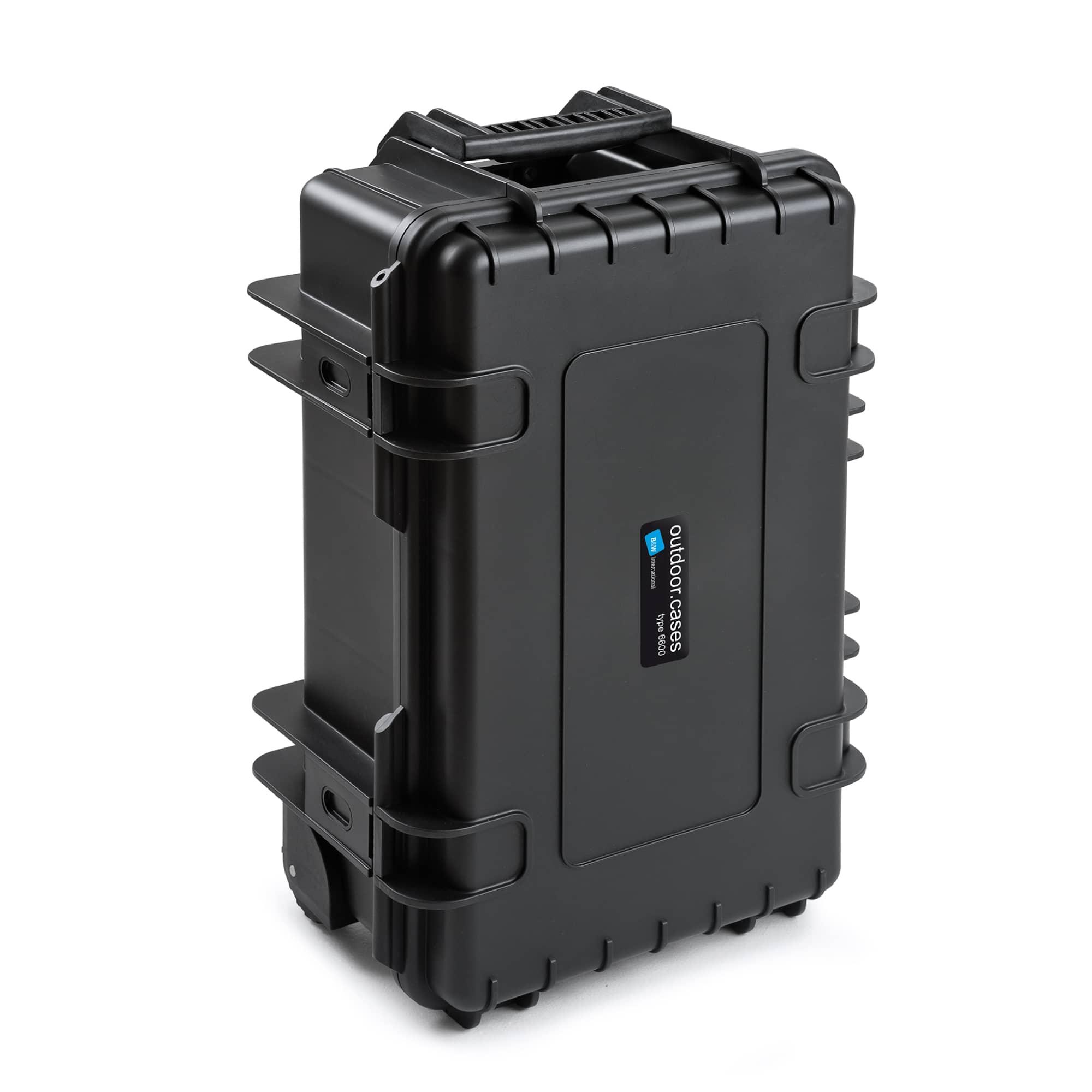 B&W Outdoor Case Typ 6600 schwarz mit Würfelschaum (SI)