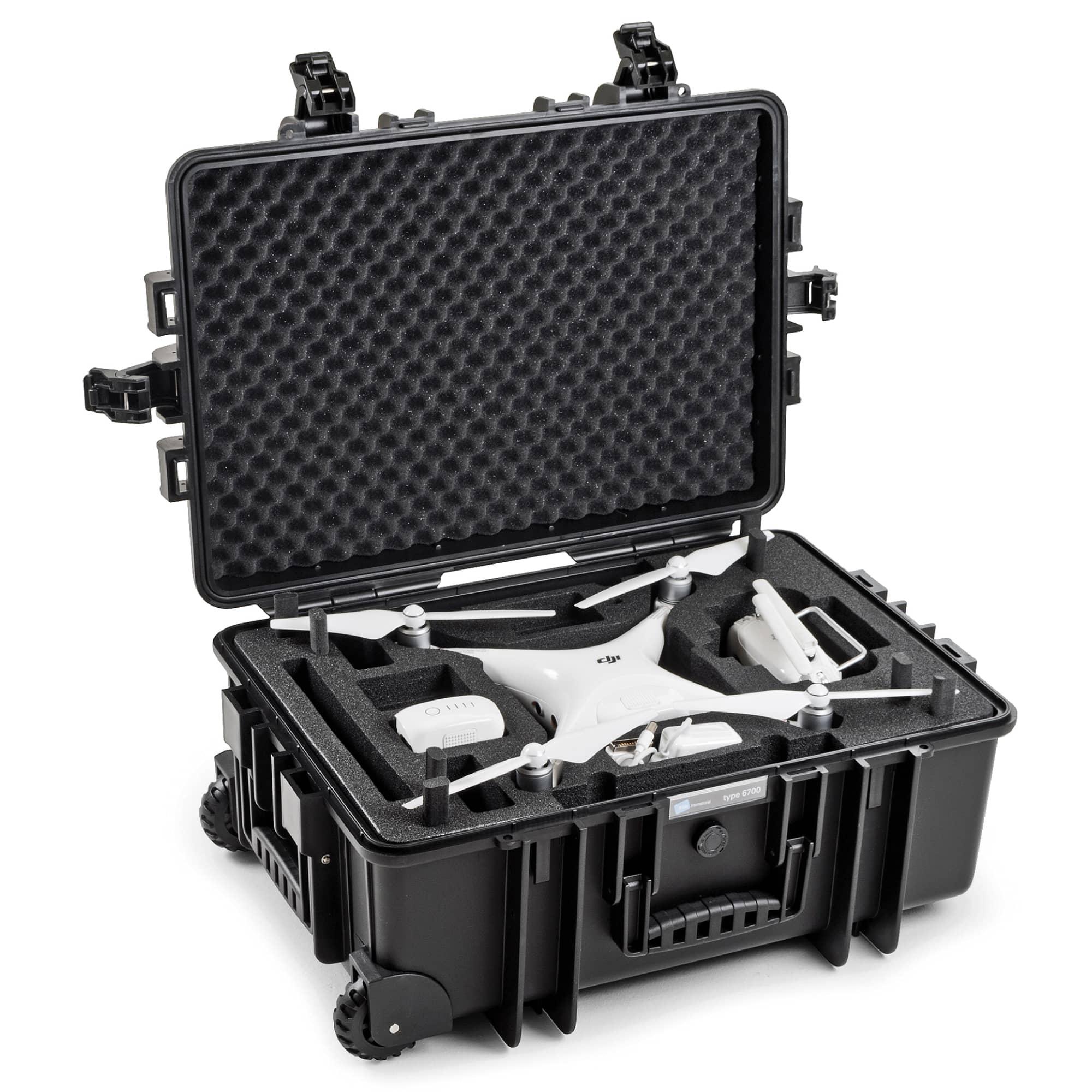 B&W Special Case Typ 6700 mit 3D-Schaum für DJI Phantom  4 / 4 Pro / 4 Pro Plus / 4 advanced / 4 Obsidian