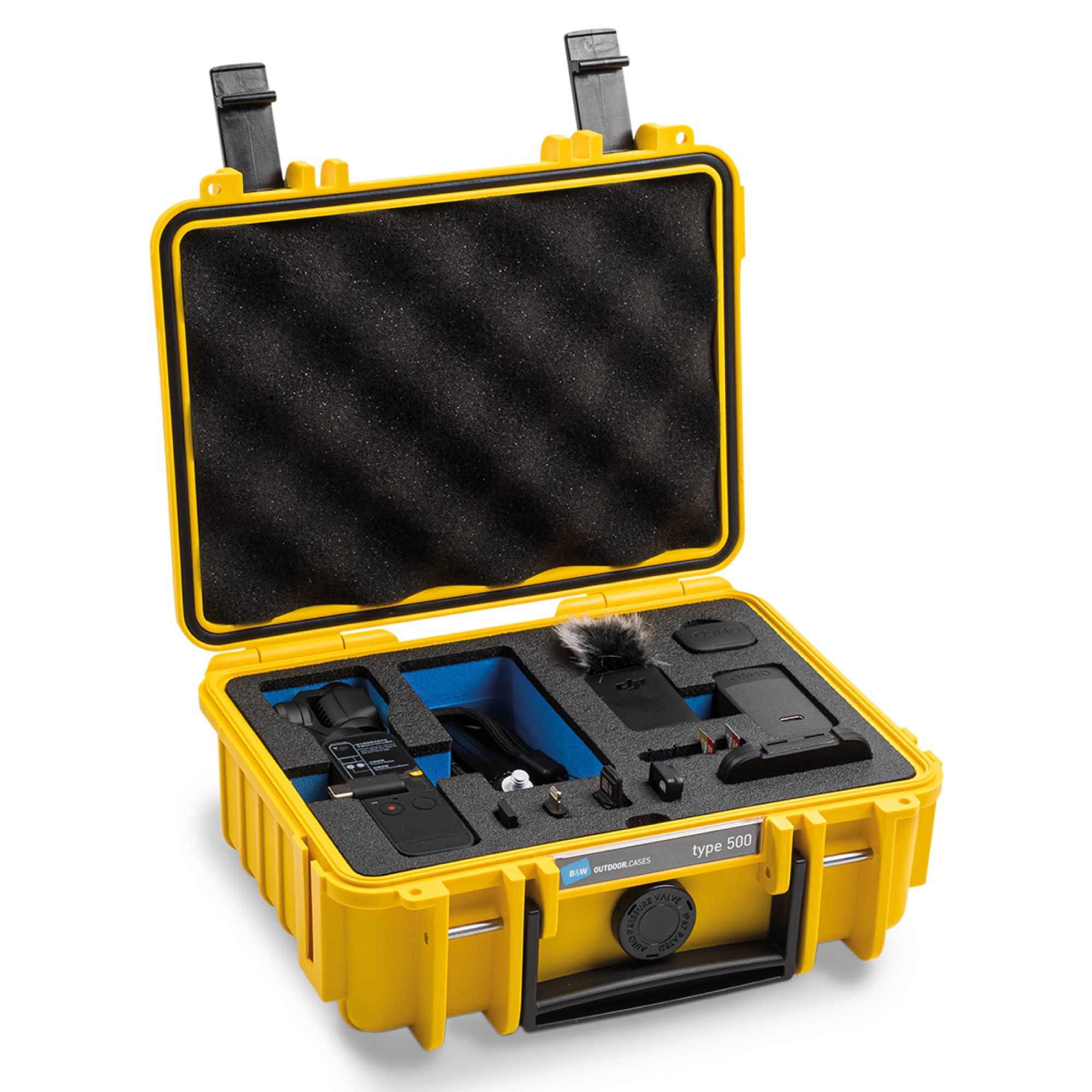 B&W Special Case Typ 500 mit 3D-Schaum für DJI Pocket 2