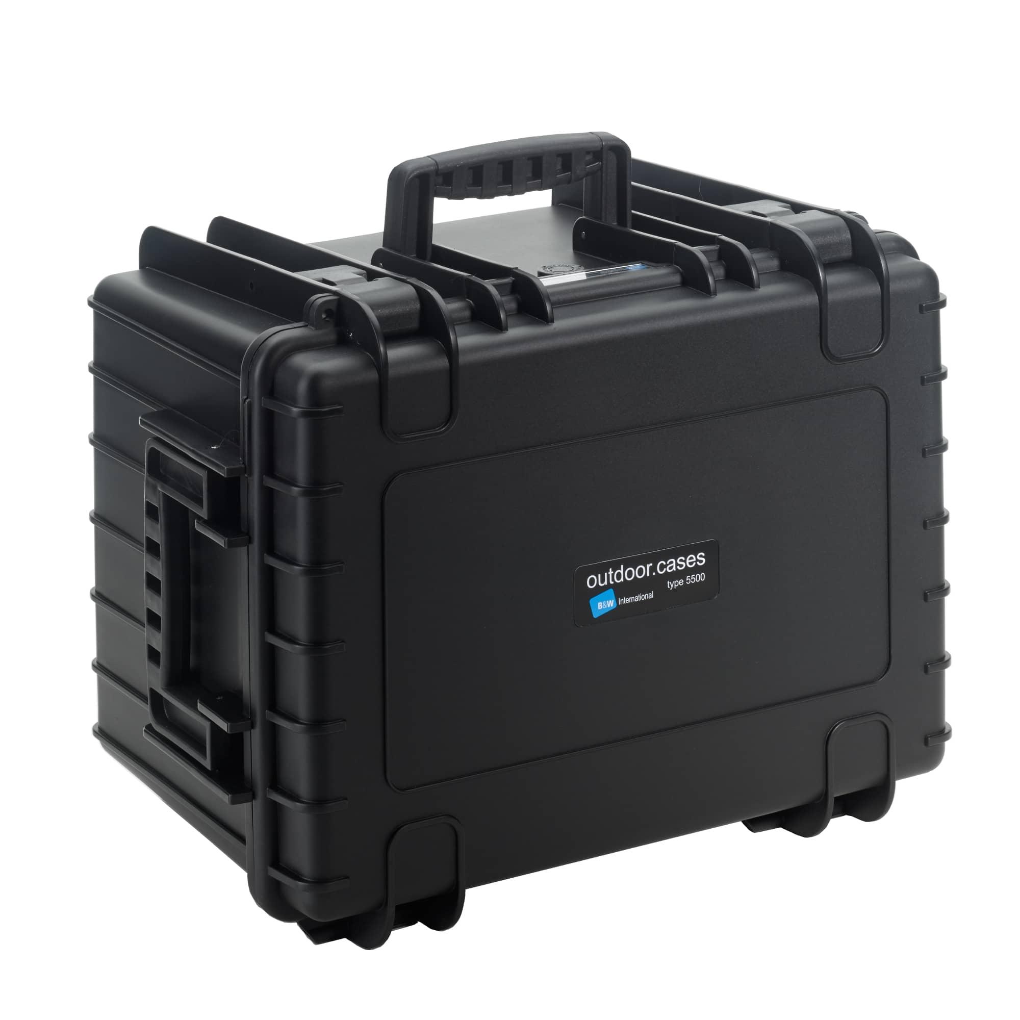Outdoor Case Typ 5500 schwarz mit Würfelschaum (SI)